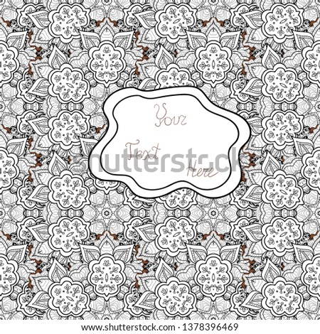 Seamless pattern Nice fabric pattern. Cute background. White, gray and black on colors. Doodles pattern. It can be used on wallpaper, wrapping boxes, mug prints, baby apparels etc.