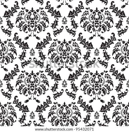 seamless pattern of damask design ez canvas