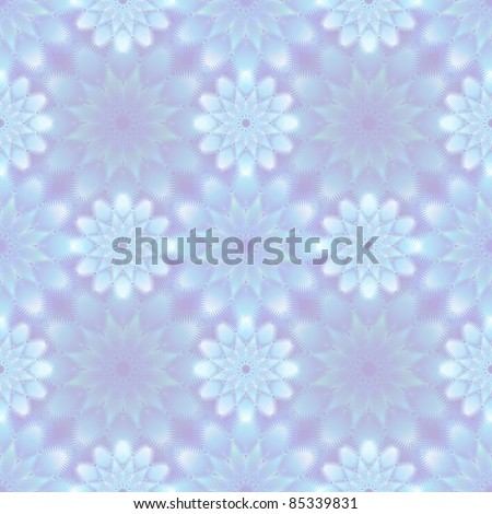 seamless pattern of frost flowers