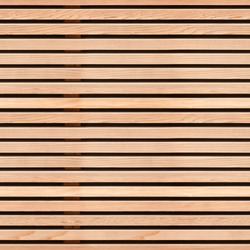 Seamless pattern of modern wall covering with light brown wooden slats
