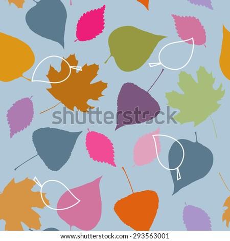 Seamless pattern on a autumn theme
