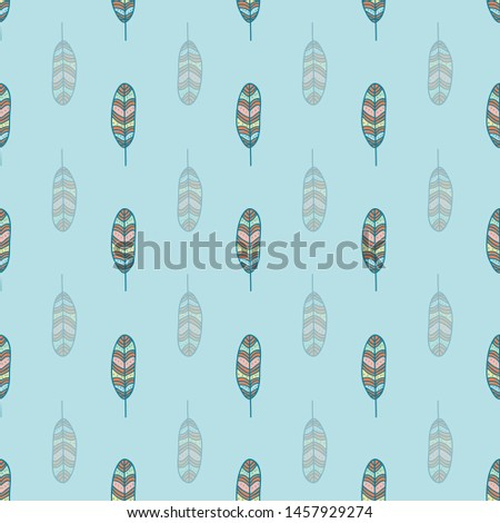 Seamless pattern print with colored Feather for fabric, textile, stationary etc.