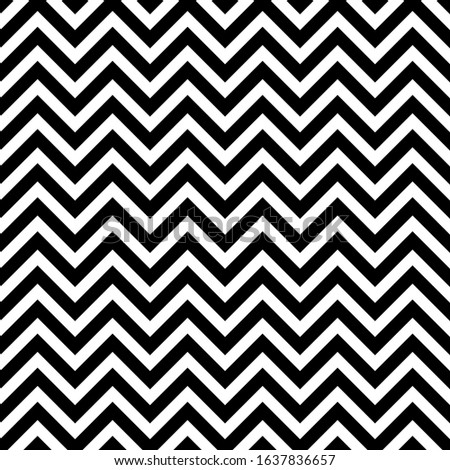 Seamless pattern. Repeating print with chivron. Background with chevrons. Retro style for vintage design. Simple classic shevron. Monochrome black and white backdrop. Abstract tileable texture
