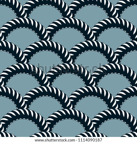 Seamless pattern rope woven, abstract illustrative background. Weaving or fishing net macro detailed endless illustration. Usable for fabric, wallpaper, wrapping, web and print.