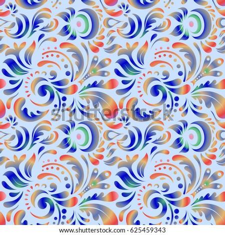 seamless pattern seamless damask pattern blue and pink classic