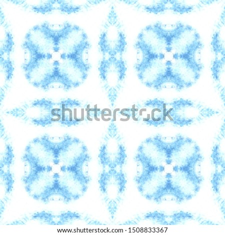 Seamless Pattern. Seamless Shape. Colorful Seamless Pattern. Blue White Ornament. Azulejo Watercolor Design. Geometric Mexican Tile. Navy Decor. Navy Azulejo Decor.
