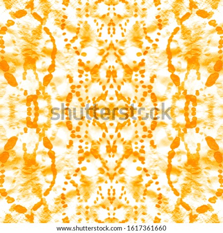 Seamless Pattern Splatter. Acrylic Graphic. Tie Dye. Textile Vogue Template. Splattered Chic Abstraction. Continuous Illustration. White,Gold,Orange Folk Seamless Pattern Splatter.