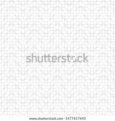 Seamless pattern. Stylish geometric texture. Modern linear ornament. Regularly repeating thin broken line grids with triangles, polygons, hexagons, rhombuses, difficult polygonal outline shapes