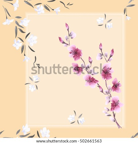 seamless pattern watercolor of...