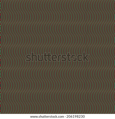 Seamless pattern, Wavy lines, colour  texture for black background, wallpaper for your original design
