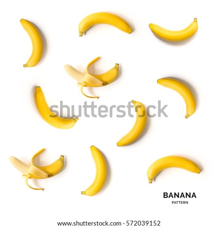 Seamless pattern with bananas. Tropical abstract background.
