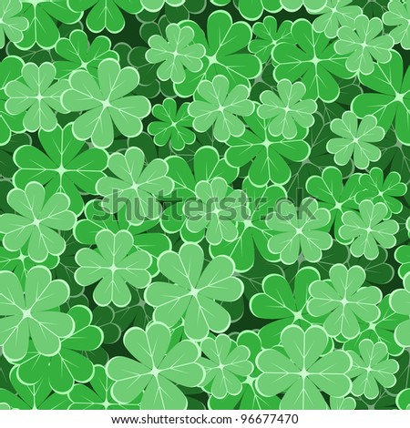 seamless pattern with clover leaves to the st. patrick`s day