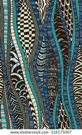 Seamless pattern with fantastic elements