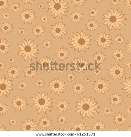 seamless pattern with flowers,clip-art illustration.  Vector format is also available in my galery