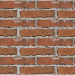 Seamless pattern with fragment of red bricks wall for design or matte painting