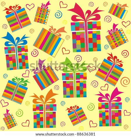 seamless pattern with gift boxes