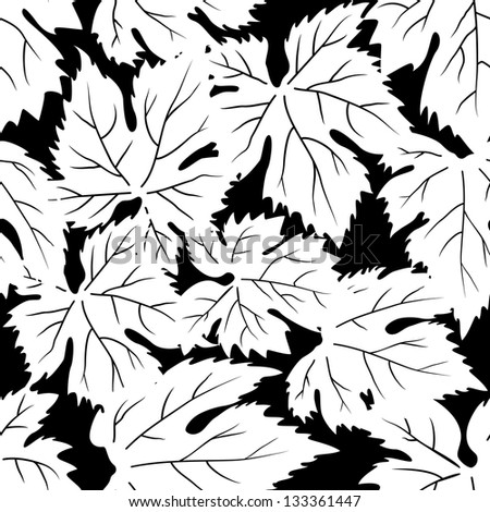 Seamless pattern with grape leafs. Raster version, vector file available in portfolio.