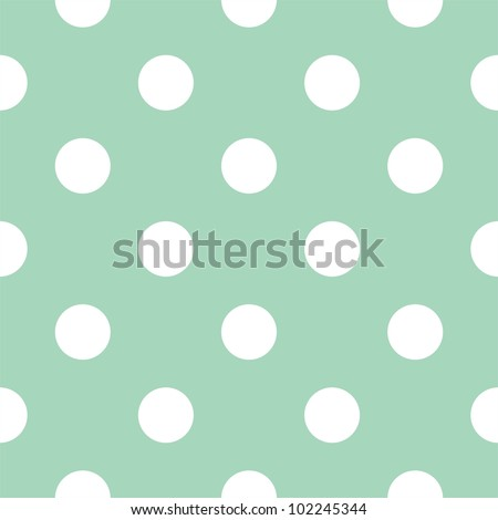 Seamless pattern with huge white polka dots on a retro vintage mint green background. For cards, invitations, wedding or baby shower albums, backgrounds, arts and scrapbooks.