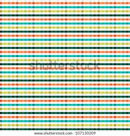 Seamless pattern with lines and squares - stock photo