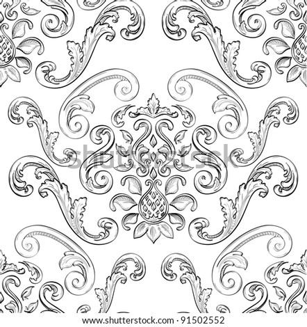 Seamless pattern with nice East ornament