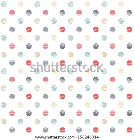seamless pattern with polka dots (raster version of the vector)