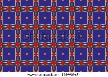 Seamless pattern with symmetric geometric ornament. Ornamental mosaic texture. Kaleidoscope abstract background abstract golden classic pattern.