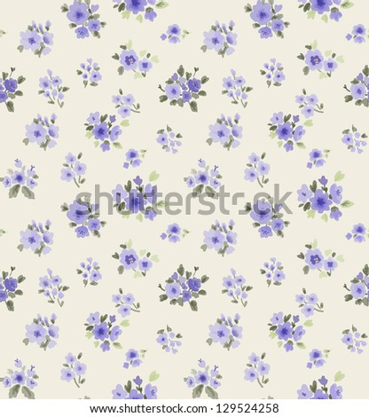 seamless pattern with watercolor flowers for countryside theme fashion trend for the coming years painterly floral background.cute patterns
