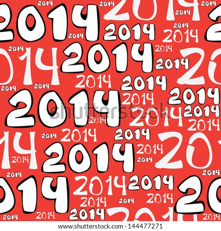 seamless pattern 2014 year