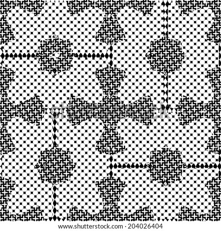 Seamless patterned texture square shape