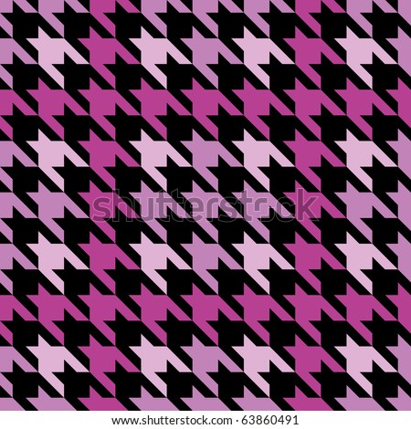 Seamless plaid houndstooth pattern in pink.