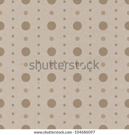 Seamless polka dots pattern with  simple design and old paper texture