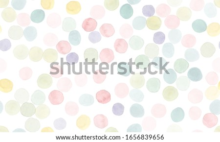 Seamless Polka Illustration. Fashion Holiday Splatter. Rainbow Invitation Design. Geometric Baby Fabric. Colorful Seamless Polka Background. Pastel Wrapping Paper. Multicolor Polka Wallpaper.