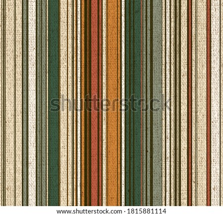 Seamless print pattern design natural earth tone canvas linen  texture simple thin and thick vertical  lines or stripes on the surface