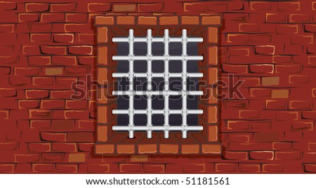 Seamless prison wall with window