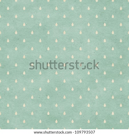 Seamless raindrops pattern on paper texture