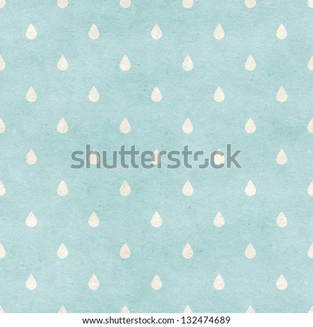 Seamless raindrops pattern on paper texture. Basic shapes backgrounds collection