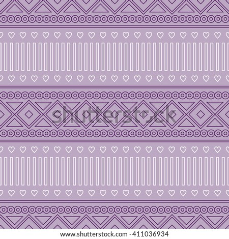 Seamless raster pattern.  Traditional ethno background in violet colors. Series of National, Folk, Ethnic and Traditional Seamless Patterns.