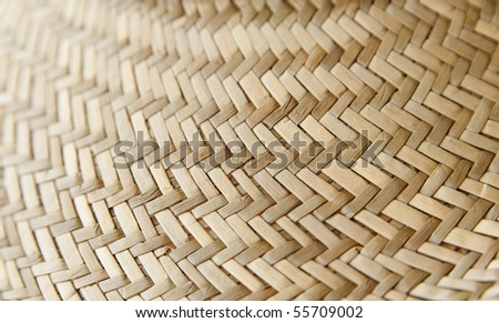 Seamless rattan weave background macro image - stock photo