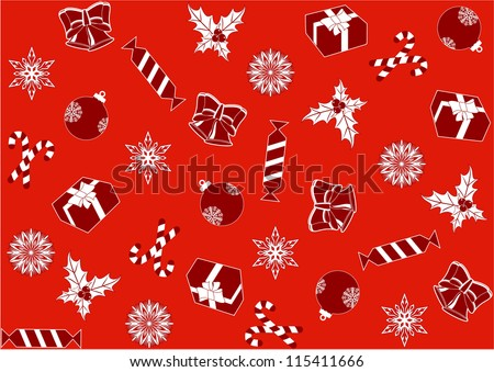 seamless red background for the new year and Christmas