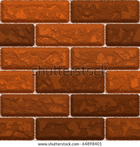 Seamless red brick wall texture that tiles as a pattern.