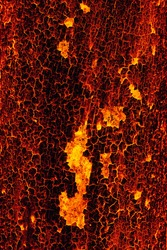 Seamless red fiery texture with lava cracks
