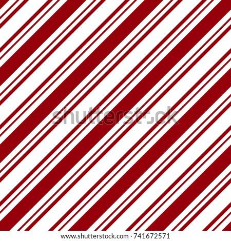 Seamless Red & White Diagonal Stripes