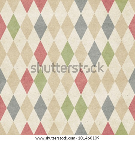 Seamless retro harlequin background