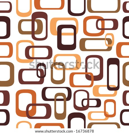 Seamless retro squares in autumn shades - tiles in any direction