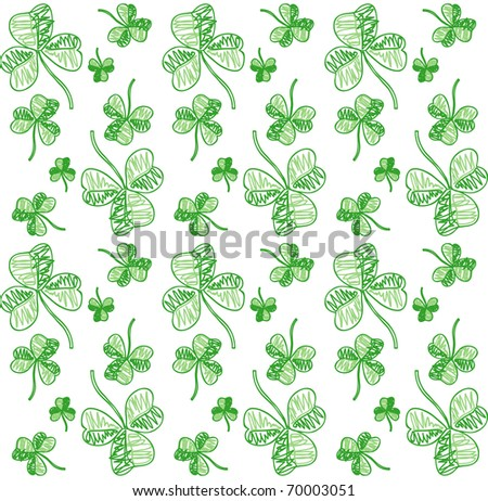 Seamless shamrock background. Vector version available
