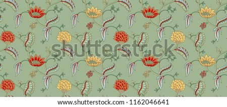 Seamless Silky Floral Pattern