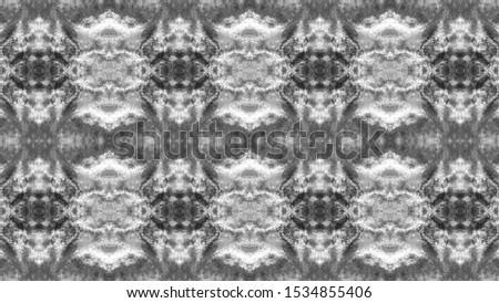 Seamless Silver Tones Ogee Delicate Print. Boho Floral Pattern. Original Ornate Texture. Tie Dye Print. Vintage Stylish Pattern. Seamless Grey Shades Original Ornate Texture.