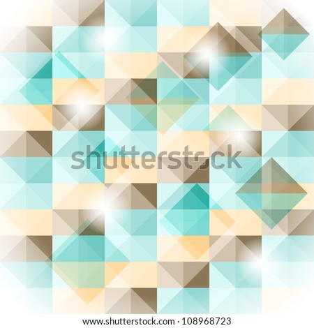 seamless simple geometric pattern with 3d illusion