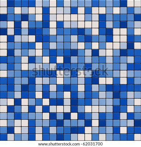 Seamless small tiles texture in different shades of blue