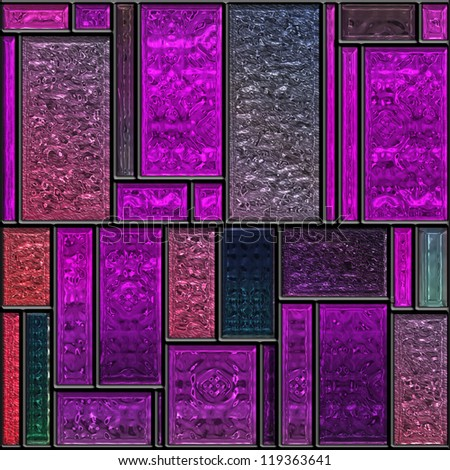 Seamless square colorful textured stained glass panel